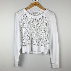 VICTORIA'S SECRET | White Floral Lace Long Sleeve